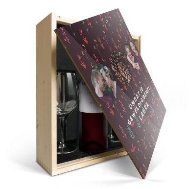 Wijnpakket met glas - Luc Pirlet Merlot