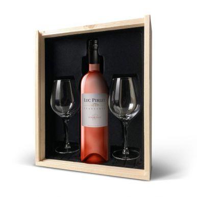 Wijnpakket met glas - Luc Pirlet Syrah