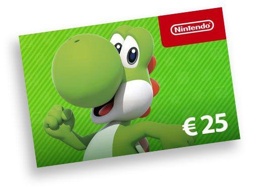 Nintendo €25 giftcard