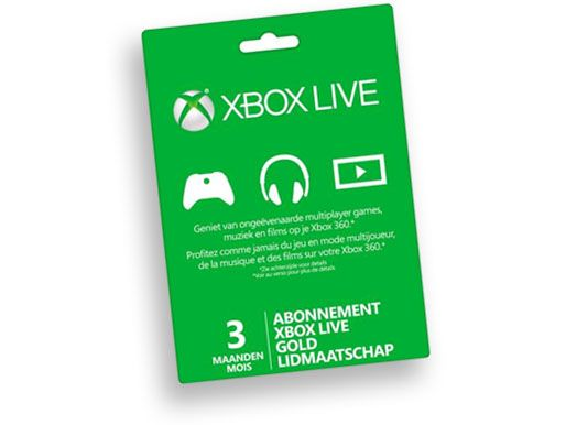 Xbox Live Gold 3 maanden
