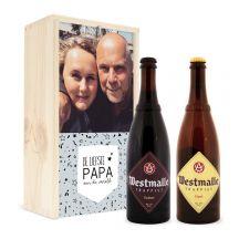 Vaderdag bierpakket in bedrukte kist - Westmalle