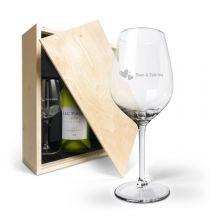 Wijnpakket met glas - Luc Pirlet Chardonnay
