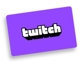 Twitch Gift Card €50,-